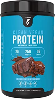 Inno Supps Clean Vegan Protein - Plant Based, Vegan, No Artificial Sweeteners, No Gluten, No Dairy. Lactose Free, Low Carbs, Low Fat, No Sugar Added, Soy Free, Non-GMO (Chocolate Brownie)