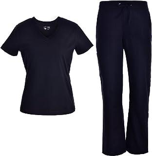 Stretch Women Nurse Scrubs Set - Pandamed Rib Panel Nursing Scrubs Uniforms JY1604