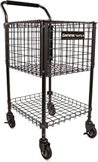 Gamma Sports Premium Tennis Teaching and Travel Carts - Unique Sports Equipment, Large Ball Capacity, Heavy Duty Designs, Ideal Training Court Accessories