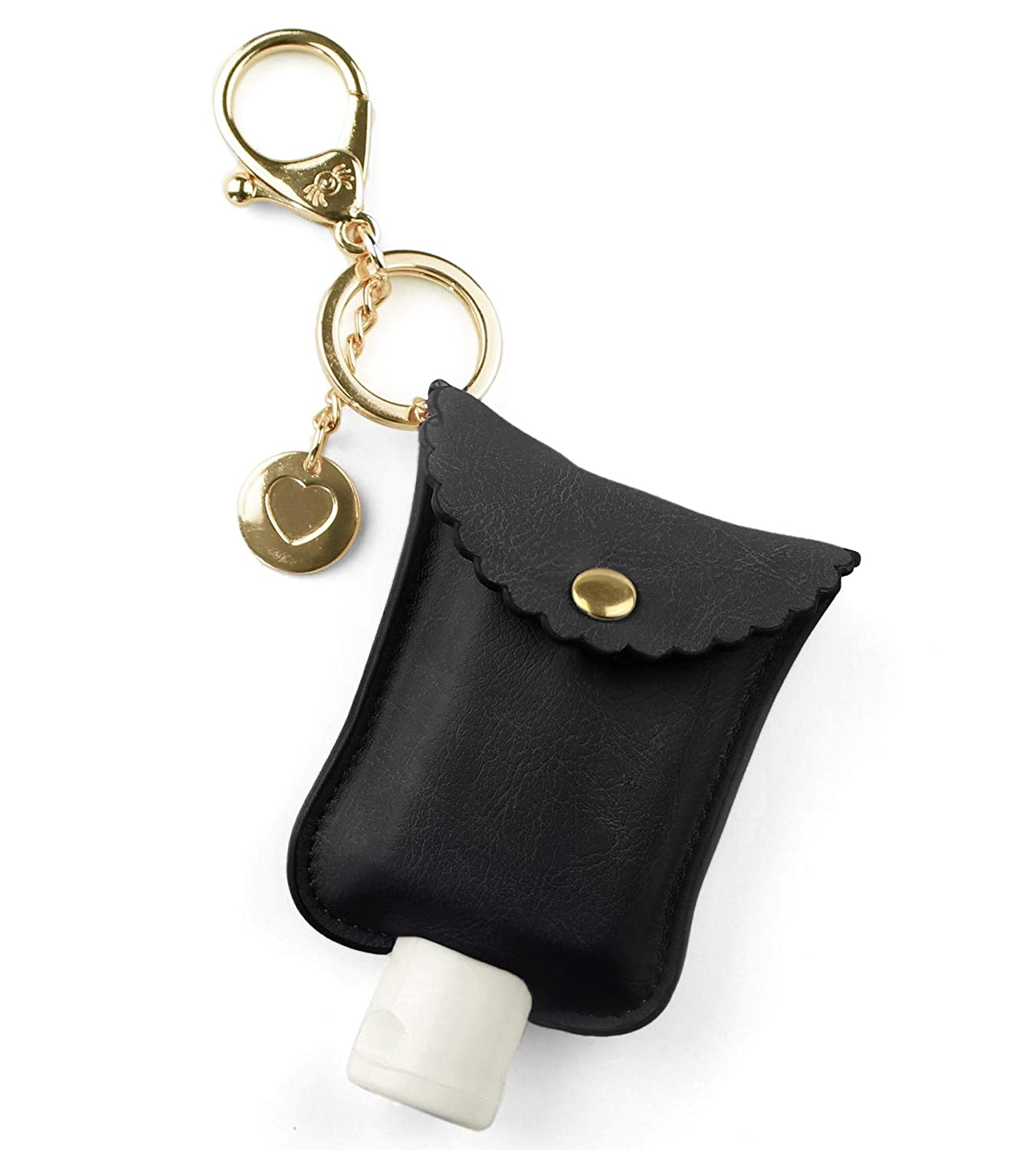 Itzy Ritzy Hand Sanitizer Holder; Fits 2-Ounce Bottles of Hand Sanitizer (Not Included); Clips to Diaper Bag, Purse or Travel Bag, Black