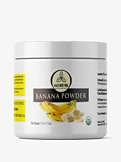 Naturevibe Botanicals Organic Banana Powder, 8 ounces | Non-GMO and Gluten Free | Adds Flavor | Rich source of protein