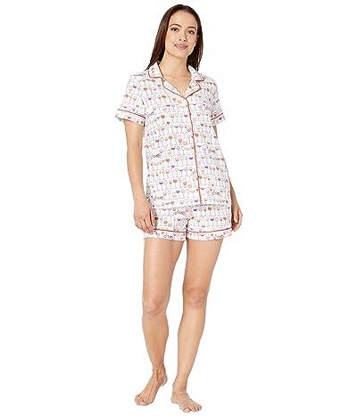 BedHead Pajamas Short Sleeve Classic Shorty Pajama Set (Happy Hour) Women