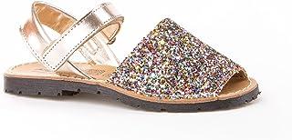 Sandalias Menorquinas para Niñas en Glitter Todo Piel