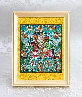 WYYF Qing Dynasty Royal Brocade Boutique Buddha Statue / 2531 Gesar King (Zaohong Ma) Photo Frame