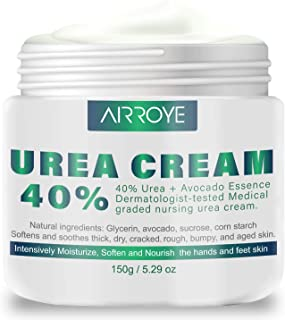 Urea 40% Cream 150g - best Callus Remover For Feet & Hands, Natural Moisturizes Nourishes Softens Dry, Rough, Cracked, Dea...