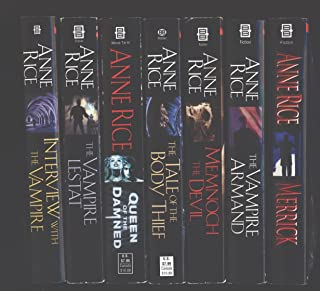 """Anne Rice 7 Book Set """"Interview with the Vampire"""", """"The Vampire Lestat"""", """"Queen of the Damned"""", """"The Tale of the Body Thie..."""