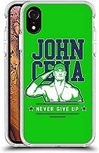 Official WWE John Cena Never Give Up 2 2018/19 Superstars 4 White Shockproof Gel Bumper Case for iPhone XR