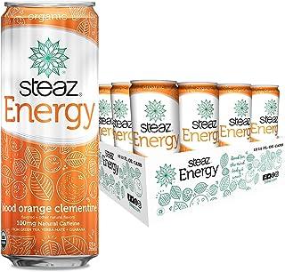 Steaz Energy Organic Blood Orange Clementine 12 oz (Pack of 12)