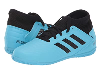 adidas Kids Predator 19.3 IN J Soccer (Little Kid/Big Kid) (Bright Cyan/Black/Solar Yellow) Kids Shoes