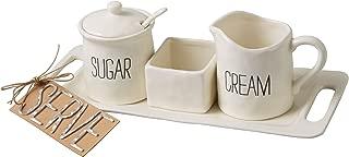 Mud Pie Bistro Cream & Sugar Set, White