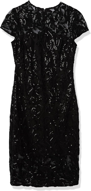 Vince Camuto Women's Sequin Lace Bodycon Dress