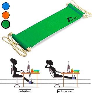 Amazy Reposapiés de oficina – Práctica hamaca para pies para hogar y oficina – Hamaca para escritorio para trabajar de manera más cómoda (Verde)