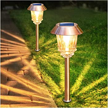 Stainless Steel Solar Powered Garden Spotlight