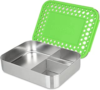 [ランチボット]LunchBots Bento Trio Large Stainless Steel Food Container Three Section Design Holds Sandwich and Two [並行輸入品]