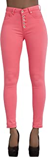 Glook Vaqueros Mujer Push Up Tejanos Mujer Cintura Alta Pantalones Pitillos Elasticos Jean de Mujer