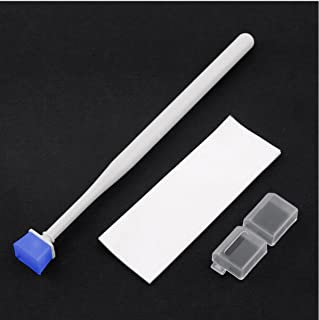 CEARI Camera CCD CMOS Optical Sensor Gel Cleaning Kit Jelly Cleaner Stick Bar with Sticker Paper for DSLR Camera with MicroFiber Cloth - Blue