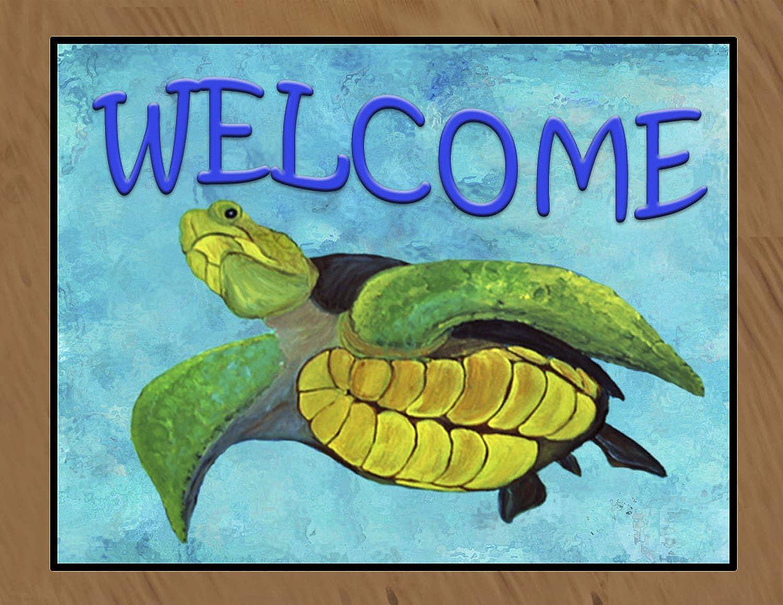 Sea Turtle Welcome Medium 20 oz Loop Floor Mat