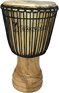 """Hand-carved Djembe Drum From Africa - 13""""x24"""" Classic Ghana Djembe (Adinkra Symbols Carving)"""