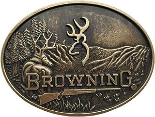 Browning Buckmark Belt Buckle Silver Deer Country Hunting Fishing