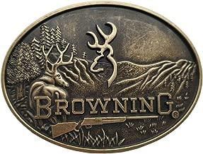 Buckmark Belt Buckle Deer Country Hunting Fishing