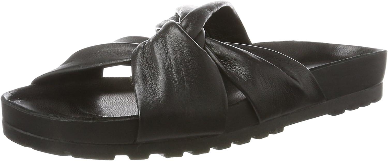 Vagabond Erie Black Slippers - Ciabatte Nere in Pelle