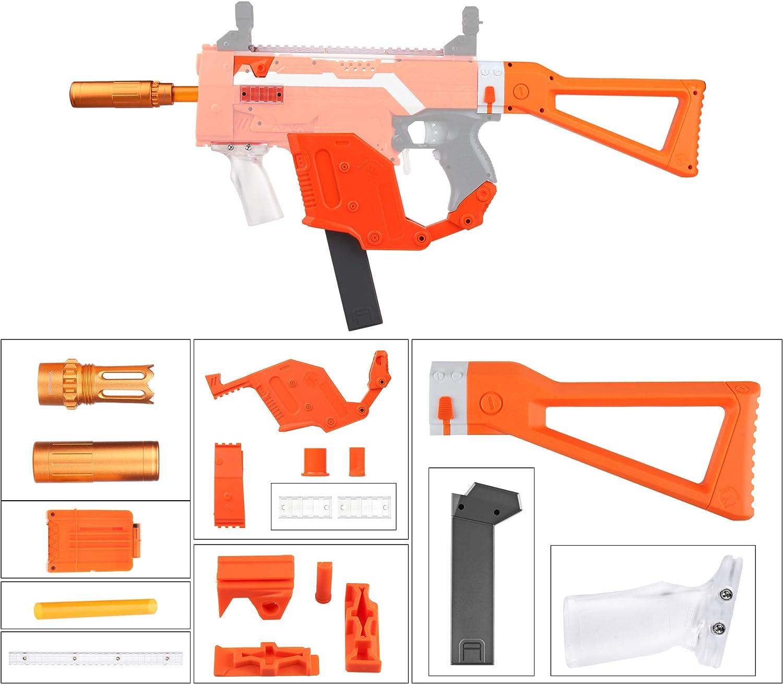 JGCWORKER Mod Kriss Vector Kits Combo 12 Items Sets for Nerf STRYFE Toy color orange