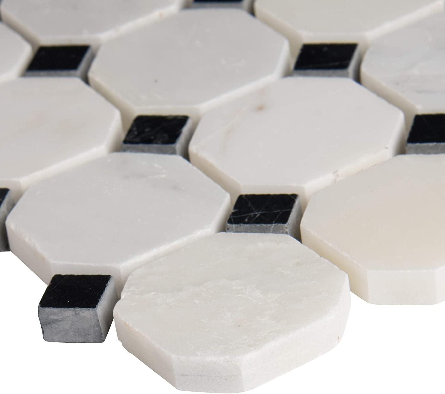 10 Sq. Ft. case Stunning Exquisite i Octagon in. X White 12 Limited time for Rapid rise free shipping
