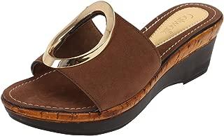 Catwalk Brown Slip-On Sandals for Women