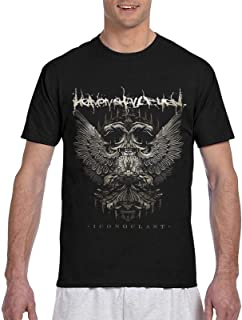 Camiseta Heaven Shall Burn Camiseta de Manga Corta de Moda para Hombre Top Deportivo al Aire Libre