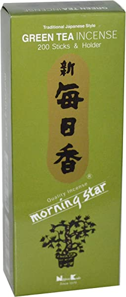 Nippon Kodo Morning Star Green Tea 200 Sticks And Holder