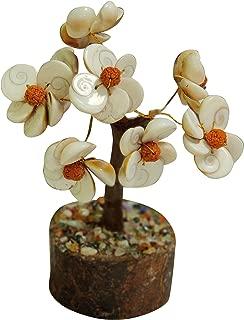 Gomti Chakra Tree with Rudraksha Beads Bonsai Fortune Money Tree for Good Luck, Wealth & Prosperity-Home Office Decor Spiritual Gift 6 Inch