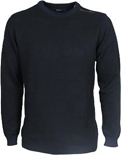 Jack & Jones Mens TOP Crew Neck Long Sleeve in Navy & Grey Colours