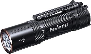 fenix E12 V2.0 AA Powered Torch Flashlight, Black,