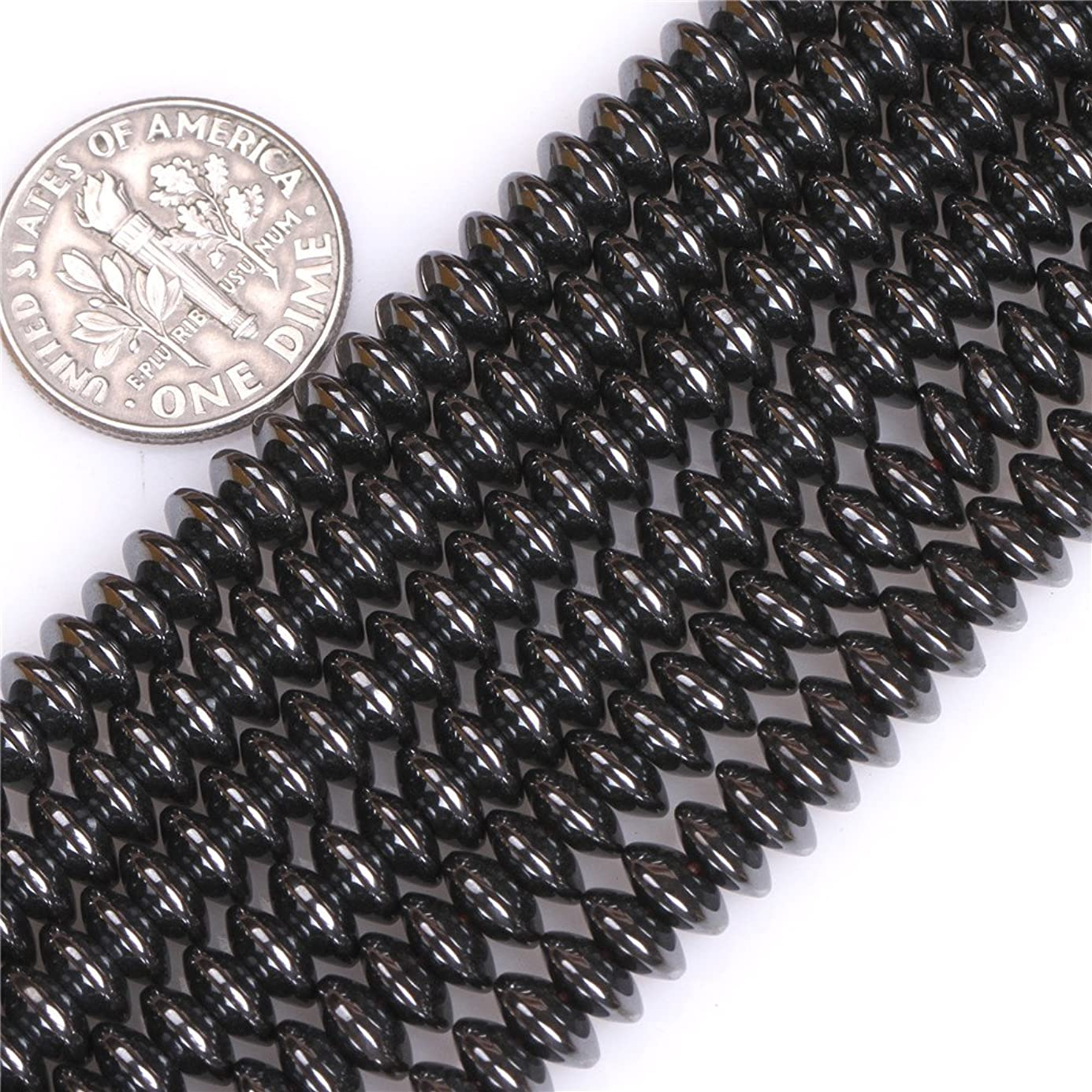 Hematite Beads for Jewelry Making Natural Gemstone Semi Precious 3x6mm Rondelle Heishi Spacer 15