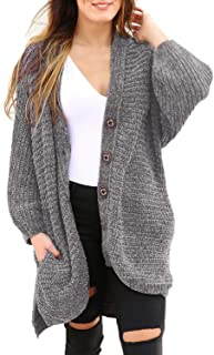 Women's Chunky Button Up Oversized Cardigan Sweater Coats with Pocket