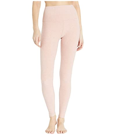 Beyond Yoga Spacedye High Waisted Midi Leggings (Tinted Rose/Pink Quartz) Women