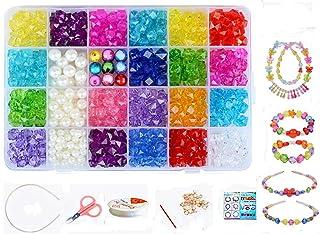 Vytung ビーズ DIY アクセサリー ブレスレット ビーズおもちゃ 24種類 収納ケース付き (1号色)