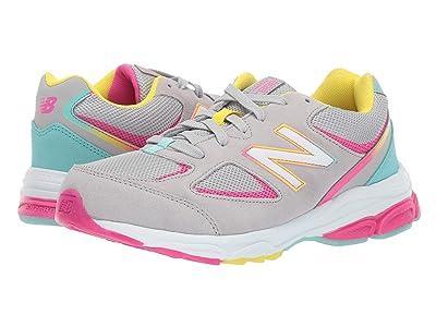 New Balance Kids GK888v2 (Big Kid) (Grey/Rainbow) Girls Shoes