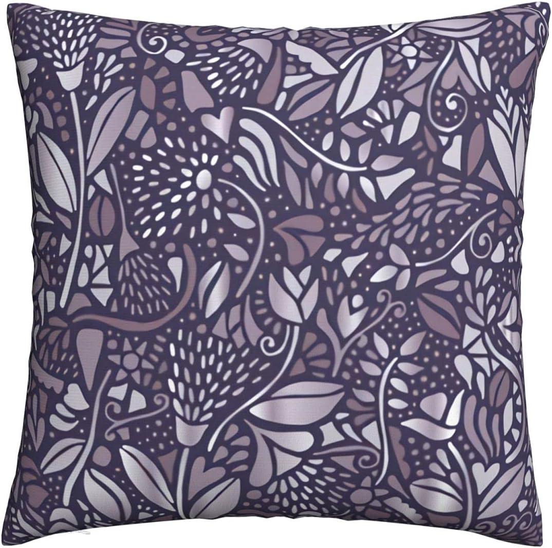 Neutral Max 74% OFF Bohemian Flowers deep Blue Max 70% OFF Deco Covers Pillow Throw Sofa