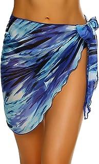 Best Women Short Sarongs Beach Wrap Sheer Bikini Wraps Chiffon Cover Ups for Swimwear S-3XL Review