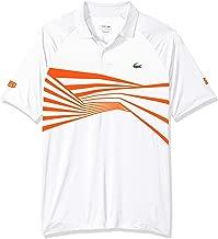 Lacoste Men's Sport Novak Djokovic Short Sleeve Ultra Dry Graphic Polo