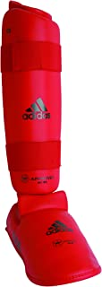 adidas Shin and Removable Instep Pads - Red - Large