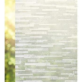 rabbitgoo Película de Vidrio, Protector Privacidad Decorativa Vinilo Pegatina Cristales Ventana Translucido, Sin Pegamento Anti 96% UV Esmerilados para Hogar Baño Cocina 90x200CM