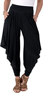 KRISP Pantalones Bombachos Negros Moda