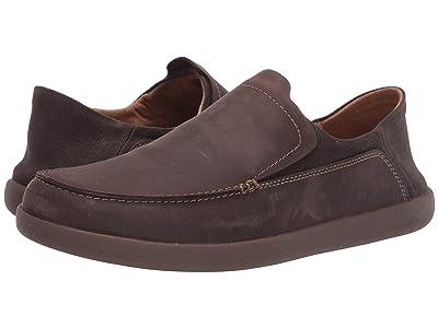 Clarks Un Lisbon Lane (Brown Oily Leather/Textile) Men