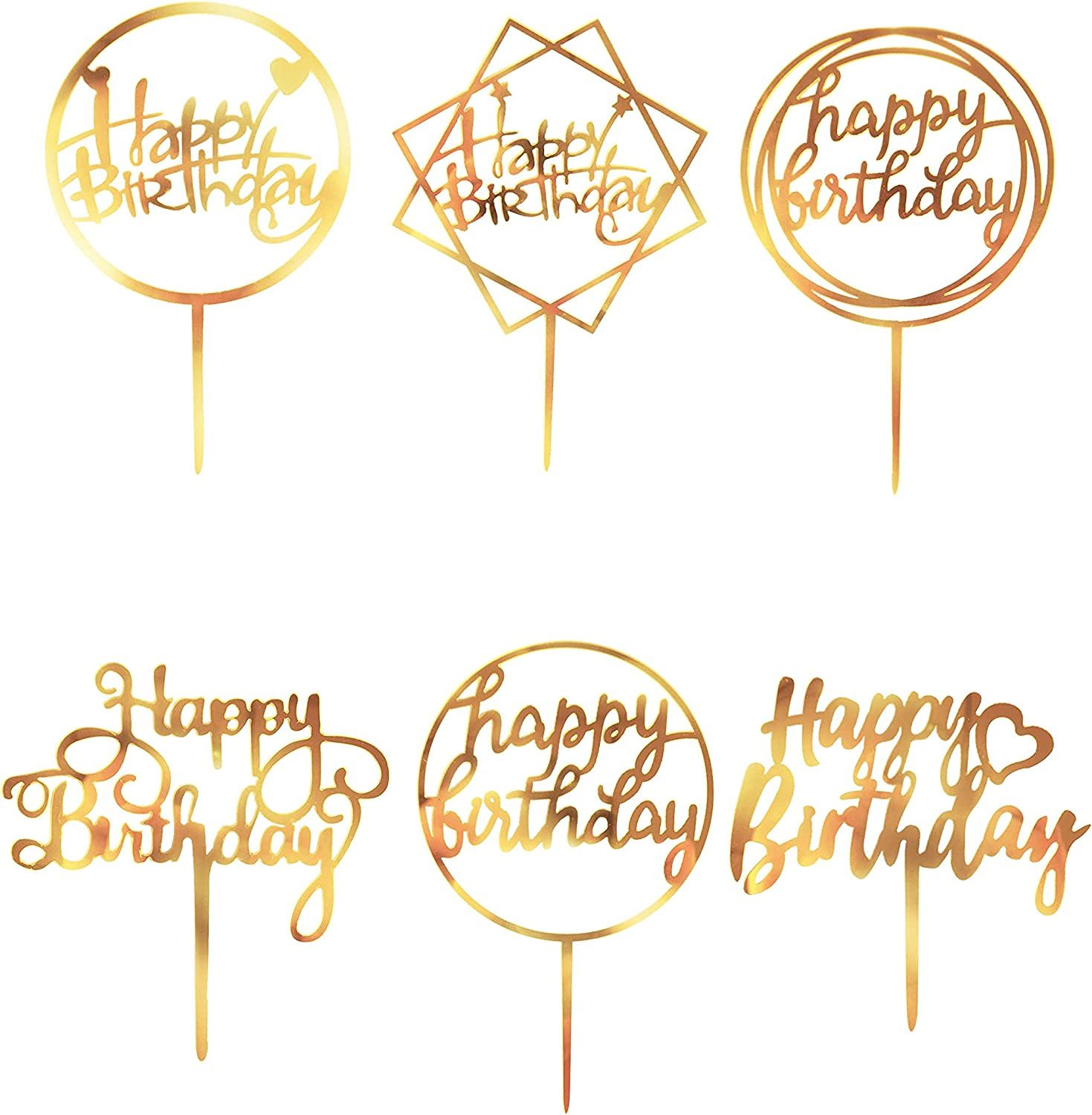 Happy Birthday Cake Toppers 18 Decoration 55% OFF Acrylic Ranking TOP2 Dou Pcs