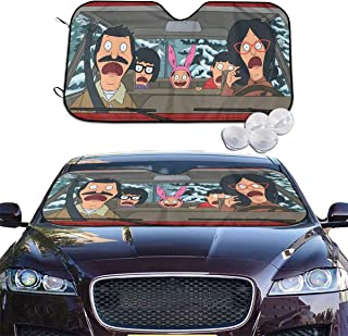 Cheny Car Windshield Sun Shade Bobs Burgers Driving Sunshades Keep Vehicle Cool Protect Your Car from Sun Heat & Glare Best UV Ray Visor Protector