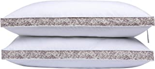 puredown® Down Feather Bed Pillows Gusseted Pillows for Side and Back Sleepers Set of 2 Standard/Queen Size