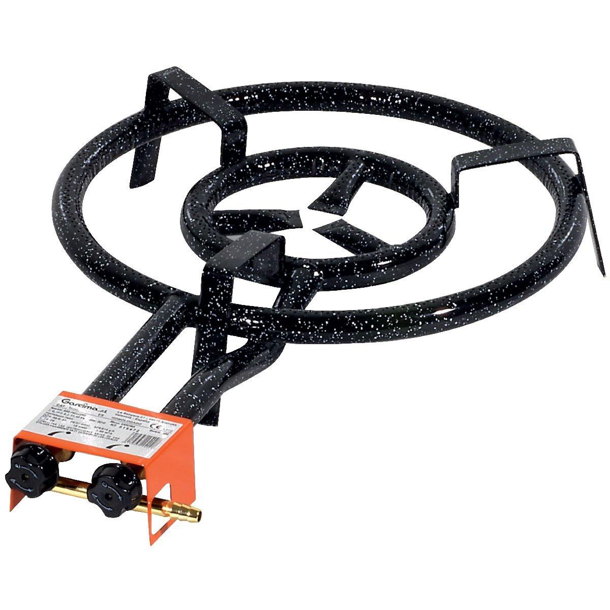 45 x 70 x 11,5 cm Color Negro Hornillo paellero 450//2 Fuegos Garcima 20450