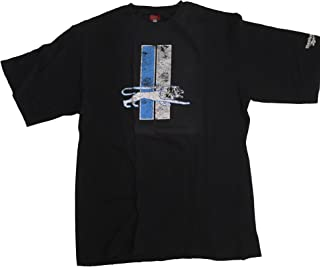 Reebok Detroit Lions Black Throwback Print T-Shirt